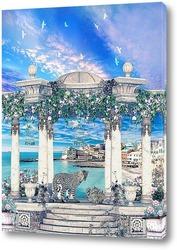 Постер Беседка с леопардами