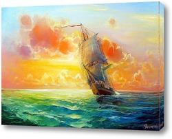 Картина Океан,восход.