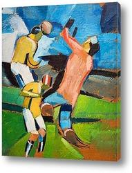 Картина Футболисты играющие в мяч