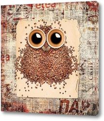 Постер Кофейная сова