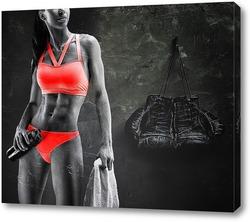 Постер Спортивная девушка