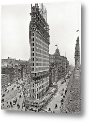 Картина Южный Мидтаун. Небоскреб Flatiron Building. 1902 г.