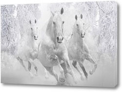 Постер Зимние лошади