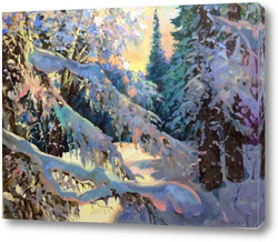 Картина Снежные лапы зимы
