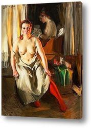 Картина Красный чулок [1914]