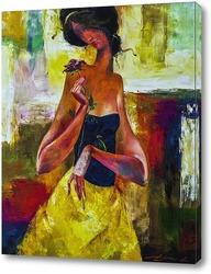 Картина Девушка с цветком