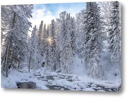 Постер Зимний пейзаж на Алтае