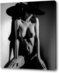Постер Woman with hat