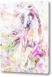 Постер Лошадь. Акварель