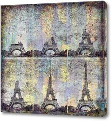 Постер Коллаж Эйфелева башня