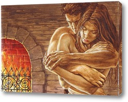 Постер Любовь у камина