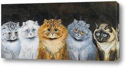 Картина Пять кошек
