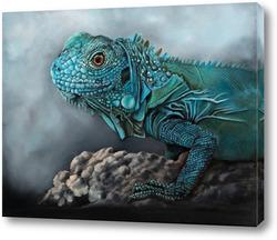 Картина Голубая Игуана
