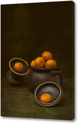 Постер Мандарины в горшке