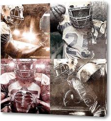 Постер Игроки американского футбола