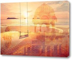 Постер Морской пляж