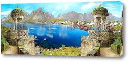 Постер Панорама гор