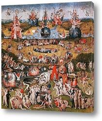 Картина Сад земных наслаждений-фрагмент триптиха