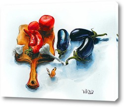 Картина колдуем на кухне