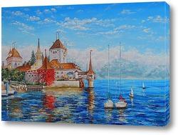 Картина Замок Оберхофен. Швейцария.