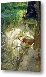 Картина Нимфа любви, 1885