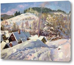 Картина Снежная дорога