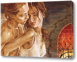 Постер Любовь у камина 2
