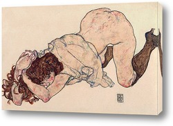 Картина Девушка на коленях,опирающаяся на локти