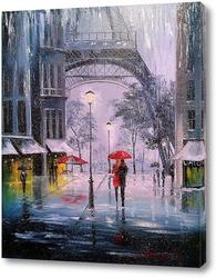 Картина Первый снег в Париже