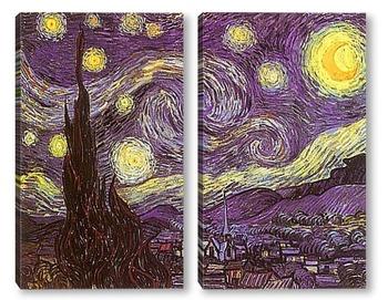 Модульная картина Звёздная ночь