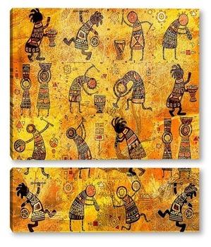 Модульная картина Африканские рисунки