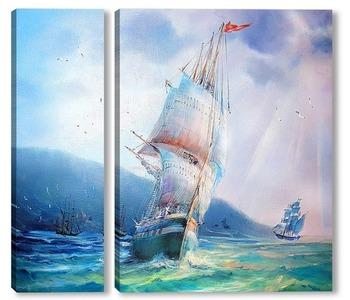 Модульная картина Лазурное море