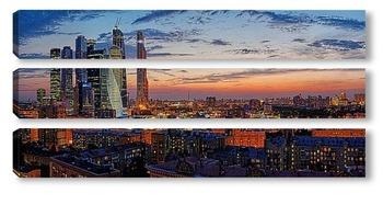 Модульная картина Сумерки над Москвой
