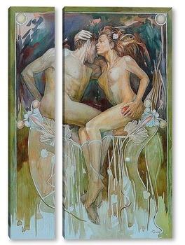 Модульная картина Адам и Ева