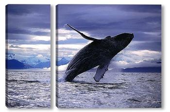 Модульная картина Whale028