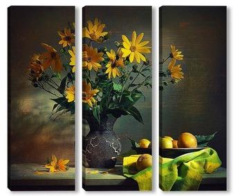 Модульная картина Желтое настроение