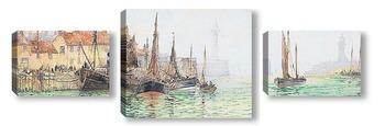 Модульная картина Уитби гавань