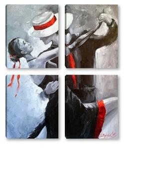 Модульная картина Наше танго