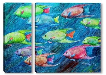 Модульная картина Рыбы