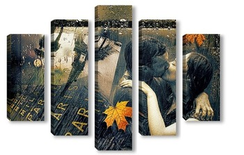 Модульная картина Париж. Осень