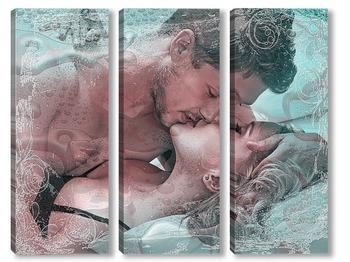 Модульная картина Поцелуй...