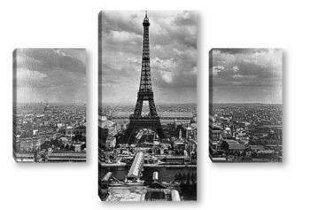 Модульная картина Вид на Всемирную выставку со стороны Сены
