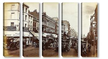 Модульная картина Оксфордская улица, Лондон, 1880-1890