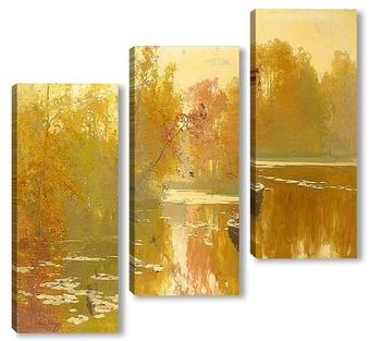 Модульная картина Осенняя рыбалка