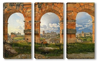 Модульная картина Вид на Рим через арку