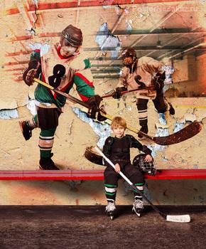 Фотообои Хоккеисты в игре