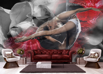 Фотообои Девушка-танцовщица