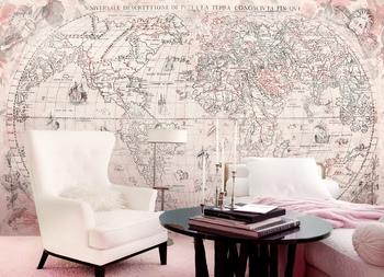 Фотообои Старая карта мира