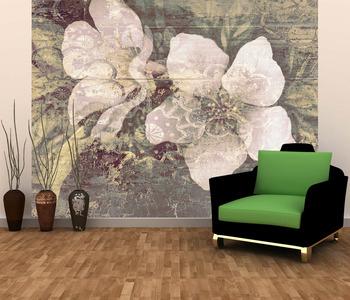 Фотообои Цветы с орнаментом