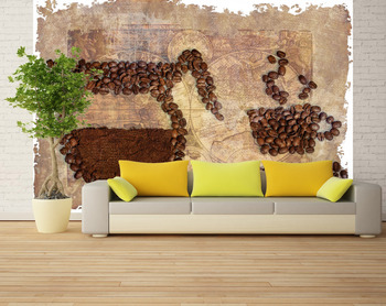 Фотообои Картина из зерен кофе